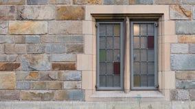 在新哥特式样式的窗口 库存图片