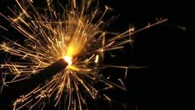 在新年` s伊芙的闪烁发光物 股票视频