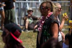 在新星岩石节日的节日面孔 图库摄影