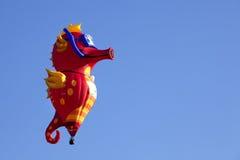 在新泽西气球节日的海象气球 免版税库存照片