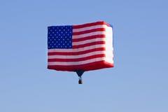 在新泽西气球节日的美国国旗气球 库存照片