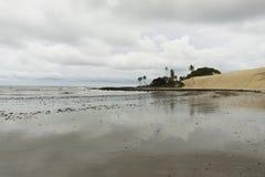 在新生, RN,巴西的Genipabu海滩 库存照片