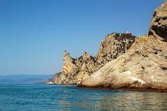 在新的世界的海湾的小船旅行 图库摄影