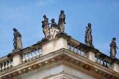 在新的宫殿的雕象Sans Souci 库存照片