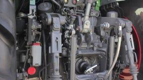 在新的拖拉机的柴油力量引擎 影视素材