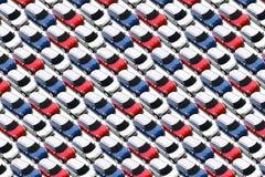 在新的汽车全部的小汽车,微型 免版税库存照片