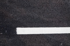 在新的沥青细节的空白线路 免版税库存照片