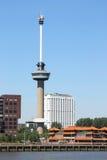 在新的马斯,鹿特丹,荷兰附近的Euromast 免版税库存照片
