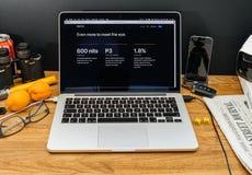 在新的ipad赞成机智的WWDC最新的公告的苹果电脑 库存照片