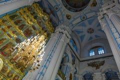 在新耶路撒冷修道院的复活大教堂里面, Istra,俄罗斯 免版税图库摄影