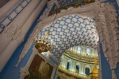 在新耶路撒冷修道院的复活大教堂里面, Istra,俄罗斯 库存照片