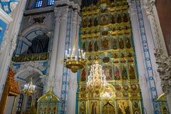 在新耶路撒冷修道院的复活大教堂里面, Istra,俄罗斯 免版税库存照片