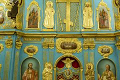 在新耶路撒冷修道院的复活大教堂里面, Istra,俄罗斯 免版税库存图片