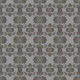 在新艺术主义样式的传染媒介灰色花卉无缝的样式 向量例证
