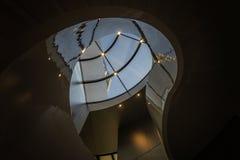 在新街口的螺旋形楼梯 免版税库存照片