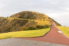 在新西兰的北岛的灯塔海角Reinga 库存图片