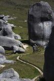 在新西兰` s南岛的城堡小山 免版税图库摄影