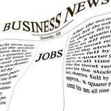 在新闻纸张的工作 免版税图库摄影