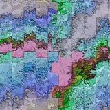 在新颜色的几何抽象方形的元素 皇族释放例证