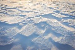 在新鲜的雪的波痕 免版税库存图片