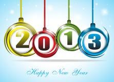 在新年度的逗人喜爱和五颜六色的看板卡2013年 免版税库存照片