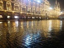 在新年时间的多雨天气 免版税库存图片