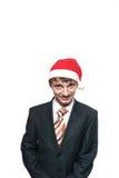 在新年的盖帽的办公室工作人员 库存图片