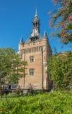 在方形的夏尔・戴高乐的Donjon du Capitol大厦在图卢兹-法国 库存照片