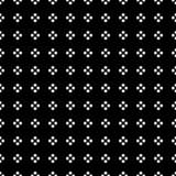 在方形的形状的白色小点在无缝黑的背景 也corel凹道例证向量 库存照片