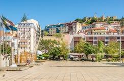 在方形的马蒂姆莫尼兹在里斯本-葡萄牙 免版税库存图片