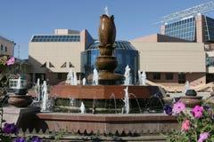 在方形的Ordzhonekidze的喷泉 明斯克 库存照片