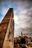 在方形的Valdibor的纪念碑在Rovin 库存照片