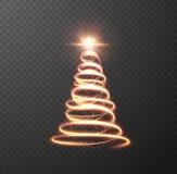 在方格的背景的圣诞树 eps10开花橙色模式缝制的rac ric缝的镶边修整向量墙纸黄色 库存图片