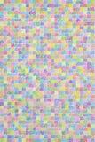 在方格纸的色的铅笔杂文样式 库存图片