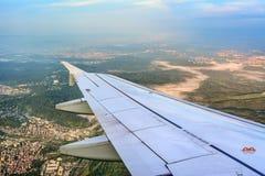 在方法的germanwings A320向斯图加特 免版税库存照片