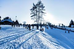 在方铅矿伊利诺伊的栗子滑雪场 免版税图库摄影