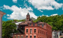 在方铅矿,伊利诺伊街道上的老大厦  免版税库存照片