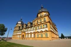 在施洛斯塞霍夫城堡塞霍夫的看法在琥珀,德国附近 免版税库存照片