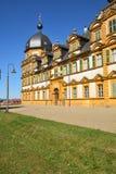 在施洛斯塞霍夫城堡塞霍夫的看法在琥珀,德国附近 免版税图库摄影
