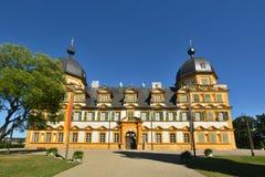 在施洛斯塞霍夫城堡塞霍夫的看法在琥珀,德国附近 图库摄影