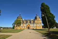 在施洛斯塞霍夫城堡塞霍夫的看法在琥珀,德国附近 库存照片