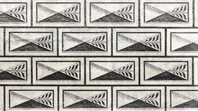 在施瓦尔岑贝格宫殿的几何装饰品在布拉格 bulblet 库存照片