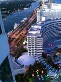 在旅馆迈阿密海滩的看法 免版税库存图片