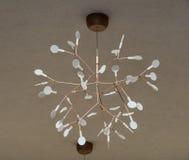 在旅馆附近的装饰灯在Kranevo,保加利亚 库存照片