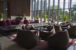 在旅馆lobbyï ¼ ŒInterior设计的咖啡馆 免版税库存图片