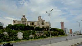 在旅馆Nacional附近的哈瓦那古巴 股票视频