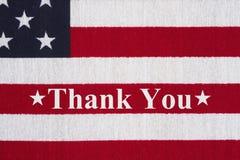 在旗子的美国爱国消息 库存图片