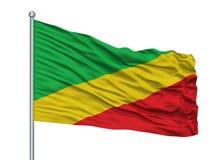 在旗杆,哥伦比亚的圣巴勃罗De Borbur City旗子,隔绝在白色背景 向量例证
