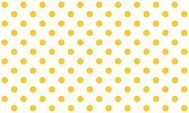 在无缝白色的背景的橙色小点 库存例证
