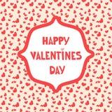 在无缝的心脏样式的动画片信件 爱问候或邀请卡片设计 库存照片